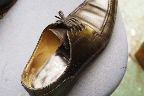 岡山市 M様 YANKO ヤンコ紳士革靴 かかとゴム交換とハーフソールゴム交換サムネイル