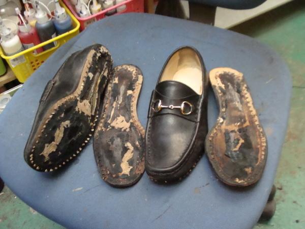 オールソール修理 12500円+消費税 GUCCI グッチモカシン ローファ婦人靴サムネイル
