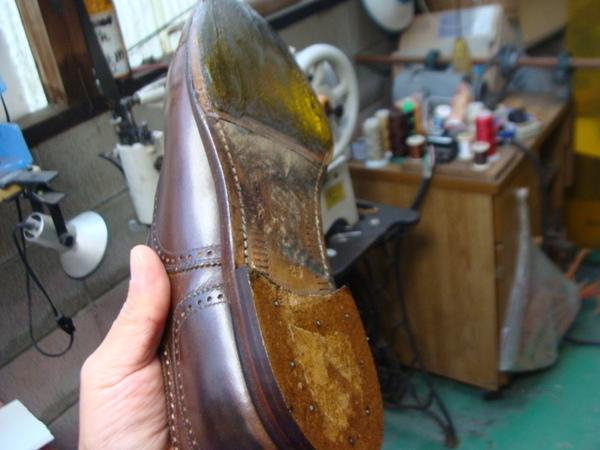 Trickers 紳士トリッカーズブーツ かかとゴム交換 山型ラスターサムネイル