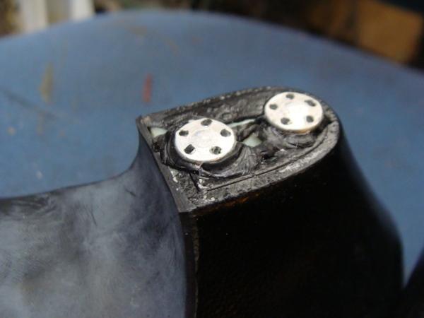 定番修理 婦人パンプス かかとゴム交換 既にゴムは劣化して無いサムネイル