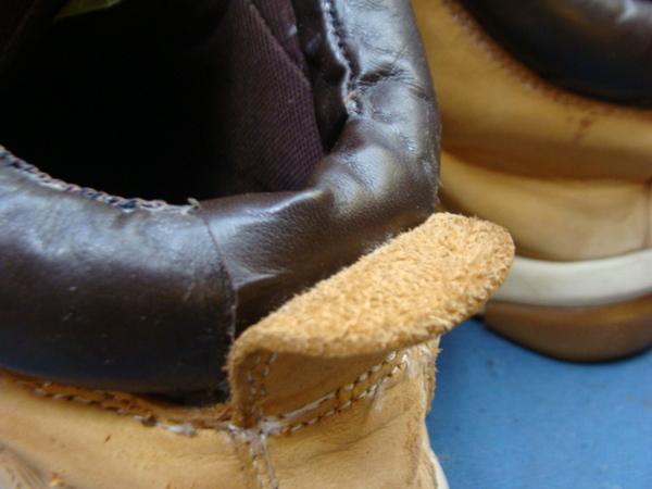 婦人ロングブーツのヒール巻き革が剥がれてきちゃったサムネイル
