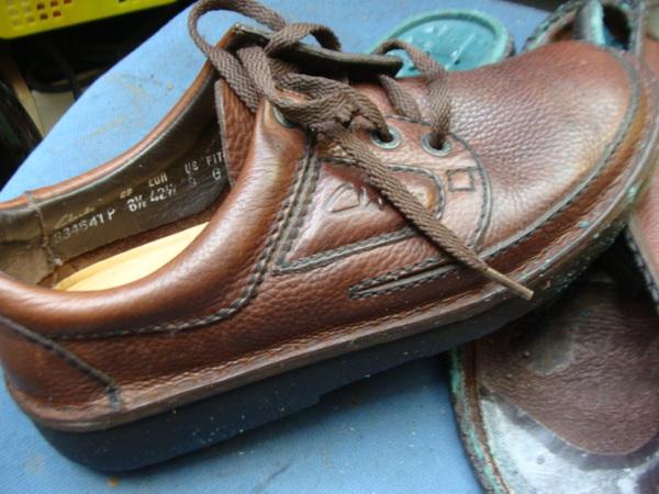 紳士モカシンの革靴 かかとゴム交換サムネイル
