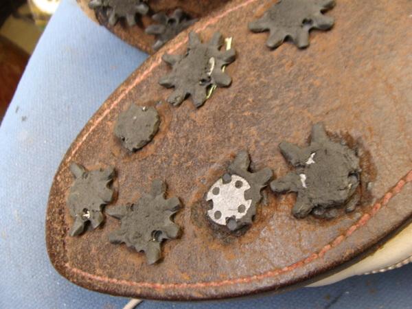オールソール修理と金具の交換 ボストニアンゴルフシューズ 30年もの 実は私の靴サムネイル