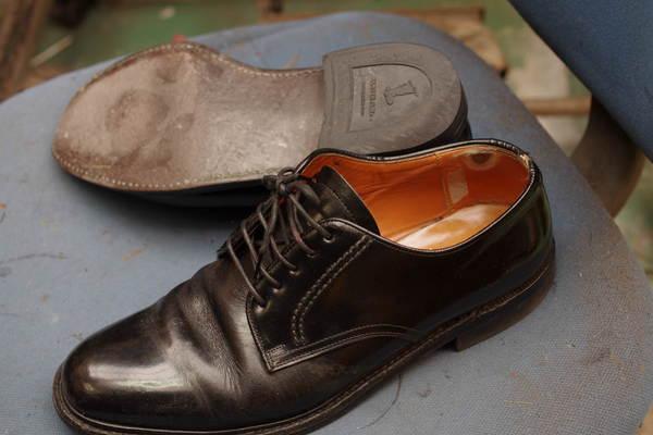 オールソール修理 12500円+消費税 Vibram#430仕様 REGAL リーガルビジネス系革靴 ソール割れサムネイル