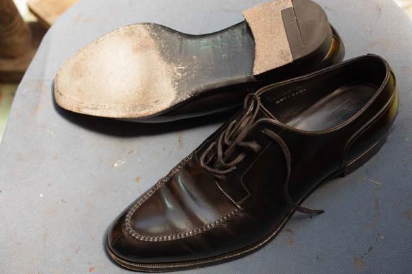 オールソール修理 13500円+消費税 紳士革靴 本革ソール 半革ラスター サムネイル