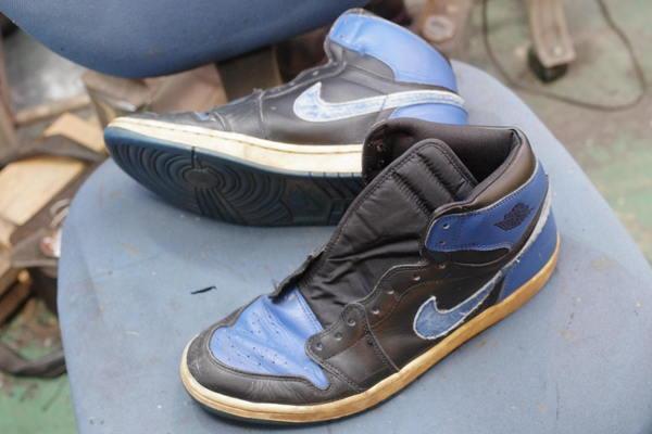 新品の靴からソール移植交換 6000円+消費税 NIKE ナイキエアジョーダン1 サムネイル