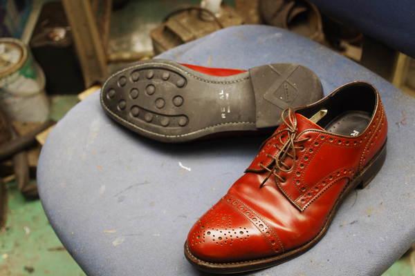 岐阜県 K様 スパイクレス化 12500円+消費税 REGAL リーガル紳士革靴 ウィングチップサムネイル