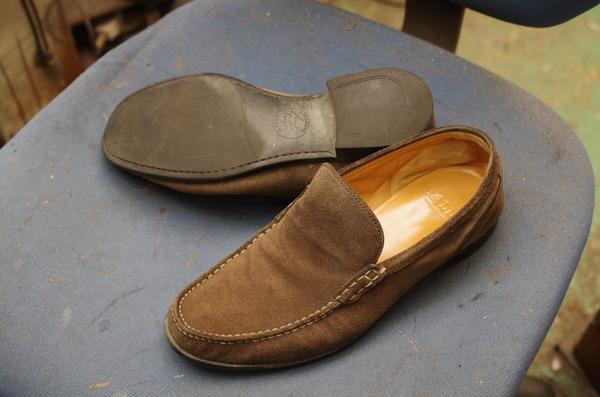 大阪府 K様 BALLY バリー 紳士革靴スリッポン ソール剥がれ かかとゴム交換 爪先補修サムネイル