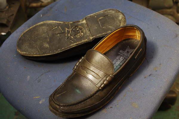 島根県 H様 MEPHISTO メフィスト 紳士革靴 ローファー オールソール修理サムネイル