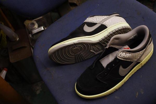 和歌山県 S様 NIKE ナイキバスケットボールシューズ 合皮部分亀裂修理 サムネイル