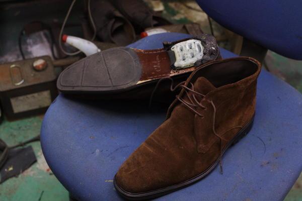 倉敷市 H様 COLE HAAN コールハーン 紳士革靴 ナイキコラボ ブロックヒール交換サムネイル