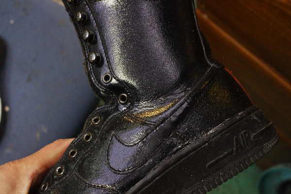 東京都 U様 NIKE ナイキエアフォース1ブーツ? クッション交換 加水分解 EVAスポンジ オパンケ縫いサムネイル