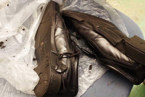 奈良県 M様 Ecco エコー紳士革靴 オールソール修理 加水分解 マッケイ縫い オパンケ縫いサムネイル